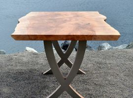 Dining Table - Western Maple and Stainless Steel