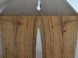 An amazing salvaged oak table!
