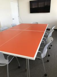 Conference Table or Ping Pong Table? Take your pick!